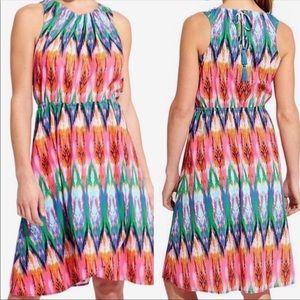 Athleta Multi-color Sleeveless Tulip  Dress XS